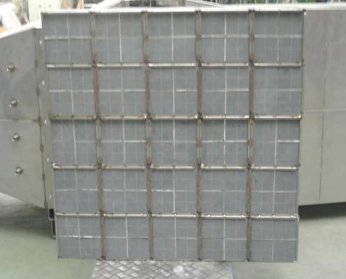 filtres à particules : module - vue de face
